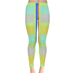 Maximum Color Rainbow Red Blue Yellow Grey Pink Plaid Flag Leggings  by Alisyart