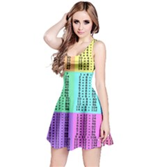 Multiplication Printable Table Color Rainbow Reversible Sleeveless Dress by Alisyart