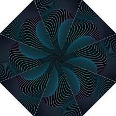 Line Light Blue Green Purple Circle Hole Wave Waves Folding Umbrellas by Alisyart