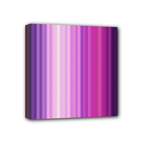 Pink Vertical Color Rainbow Purple Red Pink Line Mini Canvas 4  X 4  by Alisyart