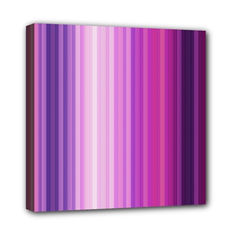 Pink Vertical Color Rainbow Purple Red Pink Line Mini Canvas 8  X 8  by Alisyart