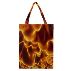 Sea Fire Orange Yellow Gold Wave Waves Classic Tote Bag by Alisyart