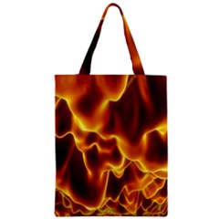 Sea Fire Orange Yellow Gold Wave Waves Zipper Classic Tote Bag by Alisyart