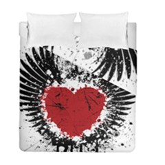 Wings Of Heart Illustration Duvet Cover Double Side (Full/ Double Size) by TastefulDesigns