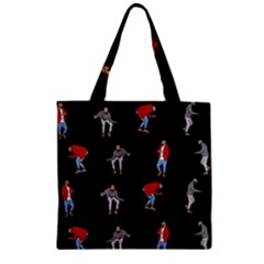 Drake Hotline Bling Black Background Zipper Grocery Tote Bag by Onesevenart