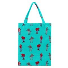Hotline Bling Blue Background Classic Tote Bag by Onesevenart