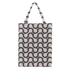 Shutterstock Wave Chevron Grey Classic Tote Bag by Alisyart