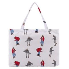 Hotline Bling White Background Medium Zipper Tote Bag by Onesevenart
