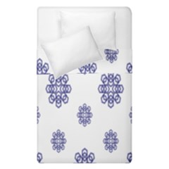 Snow Blue White Cool Duvet Cover Double Side (Single Size) by Alisyart