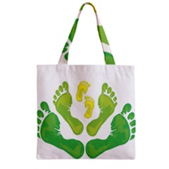 Soles Feet Green Yellow Family Zipper Grocery Tote Bag by Alisyart