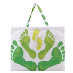 Soles Feet Green Yellow Family Zipper Large Tote Bag by Alisyart