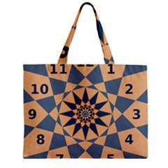 Stellated Regular Dodecagons Center Clock Face Number Star Zipper Mini Tote Bag by Alisyart