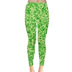 Specktre Triangle Green Leggings  by Alisyart