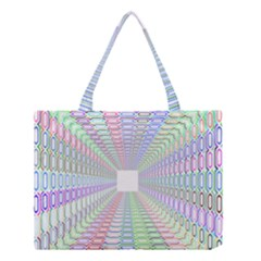 Tunnel With Bright Colors Rainbow Plaid Love Heart Triangle Medium Tote Bag by Alisyart