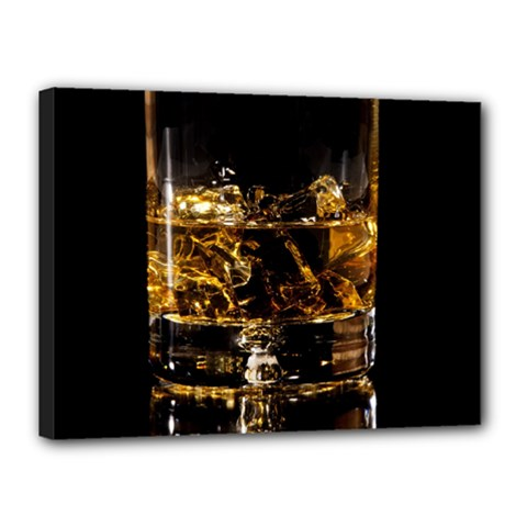 Drink Good Whiskey Canvas 16  X 12  by Onesevenart