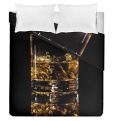 Drink Good Whiskey Duvet Cover Double Side (Queen Size) by Onesevenart