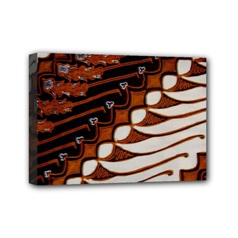 Traditional Batik Sarong Mini Canvas 7  X 5  by Onesevenart