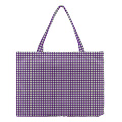 Mardi Gras Purple Plaid Medium Tote Bag by PhotoNOLA