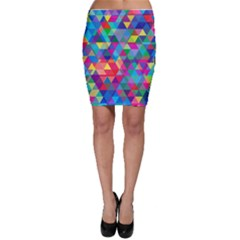 Colorful Abstract Triangle Shapes Background Bodycon Skirt by TastefulDesigns