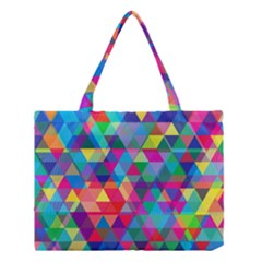 Colorful Abstract Triangle Shapes Background Medium Tote Bag by TastefulDesigns