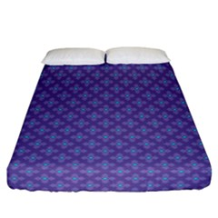Abstract Purple Pattern Background Fitted Sheet (california King Size) by TastefulDesigns