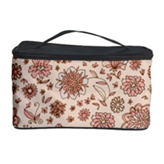 Retro Sketchy Floral Patterns Cosmetic Storage Case by TastefulDesigns