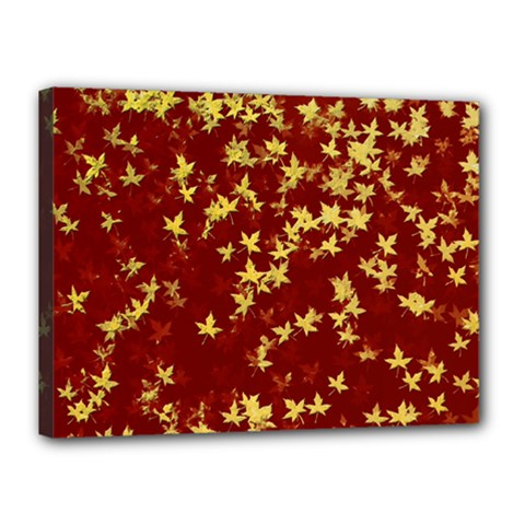 Background Design Leaves Pattern Canvas 16  X 12  by Simbadda