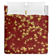 Background Design Leaves Pattern Duvet Cover Double Side (Queen Size) by Simbadda