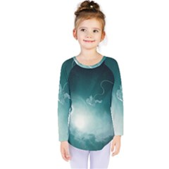 Astronaut Space Travel Gravity Kids  Long Sleeve Tee by Simbadda