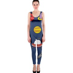 Space Background Design Onepiece Catsuit by Simbadda