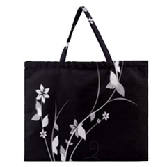 Plant Flora Flowers Composition Zipper Large Tote Bag by Simbadda