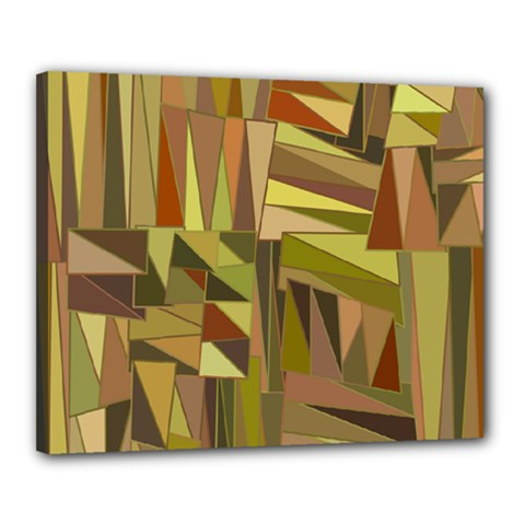 Earth Tones Geometric Shapes Unique Canvas 20  X 16  by Simbadda