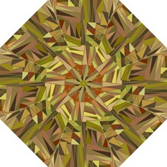 Earth Tones Geometric Shapes Unique Folding Umbrellas by Simbadda