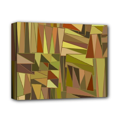 Earth Tones Geometric Shapes Unique Deluxe Canvas 14  X 11  by Simbadda