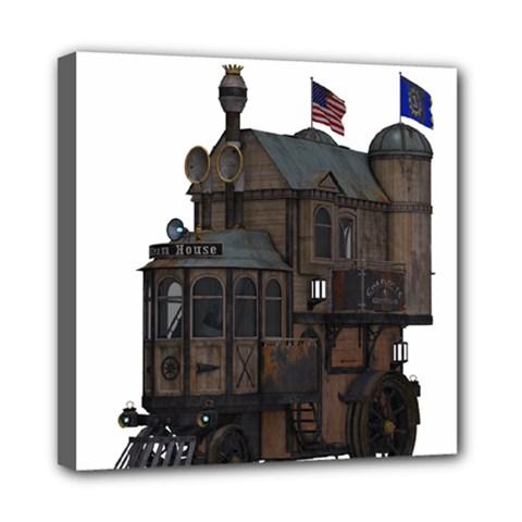 Steampunk Lock Fantasy Home Mini Canvas 8  X 8  by Simbadda