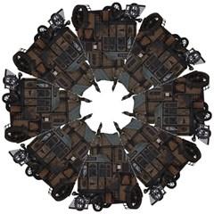 Steampunk Lock Fantasy Home Hook Handle Umbrellas (medium) by Simbadda