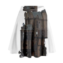 Steampunk Lock Fantasy Home High Waist Skirt by Simbadda