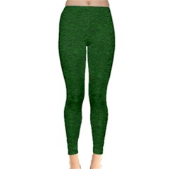 Texture Green Rush Easter Leggings  by Simbadda