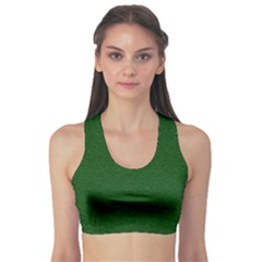 Texture Green Rush Easter Sports Bra by Simbadda