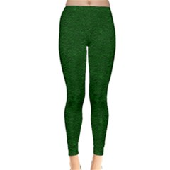 Texture Green Rush Easter Classic Winter Leggings by Simbadda