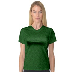 Texture Green Rush Easter Women s V-Neck Sport Mesh Tee by Simbadda