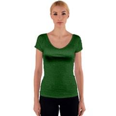 Texture Green Rush Easter Women s V-Neck Cap Sleeve Top by Simbadda
