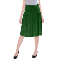 Texture Green Rush Easter Midi Beach Skirt by Simbadda