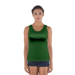 Texture Green Rush Easter Women s Sport Tank Top  by Simbadda