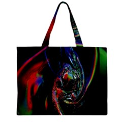 Abstraction Dive From Inside Zipper Mini Tote Bag by Simbadda
