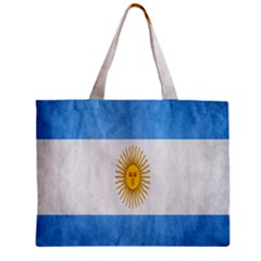 Argentina Texture Background Zipper Mini Tote Bag by Simbadda