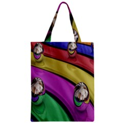 Balloons Colorful Rainbow Metal Zipper Classic Tote Bag by Simbadda