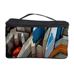Abstraction Imagination City District Building Graffiti Cosmetic Storage Case by Simbadda