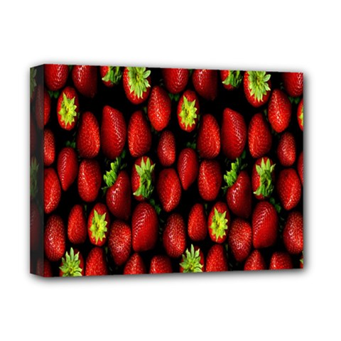Berry Strawberry Many Deluxe Canvas 16  X 12   by Simbadda