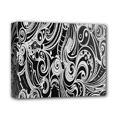Black White Pattern Shape Patterns Deluxe Canvas 14  X 11  by Simbadda